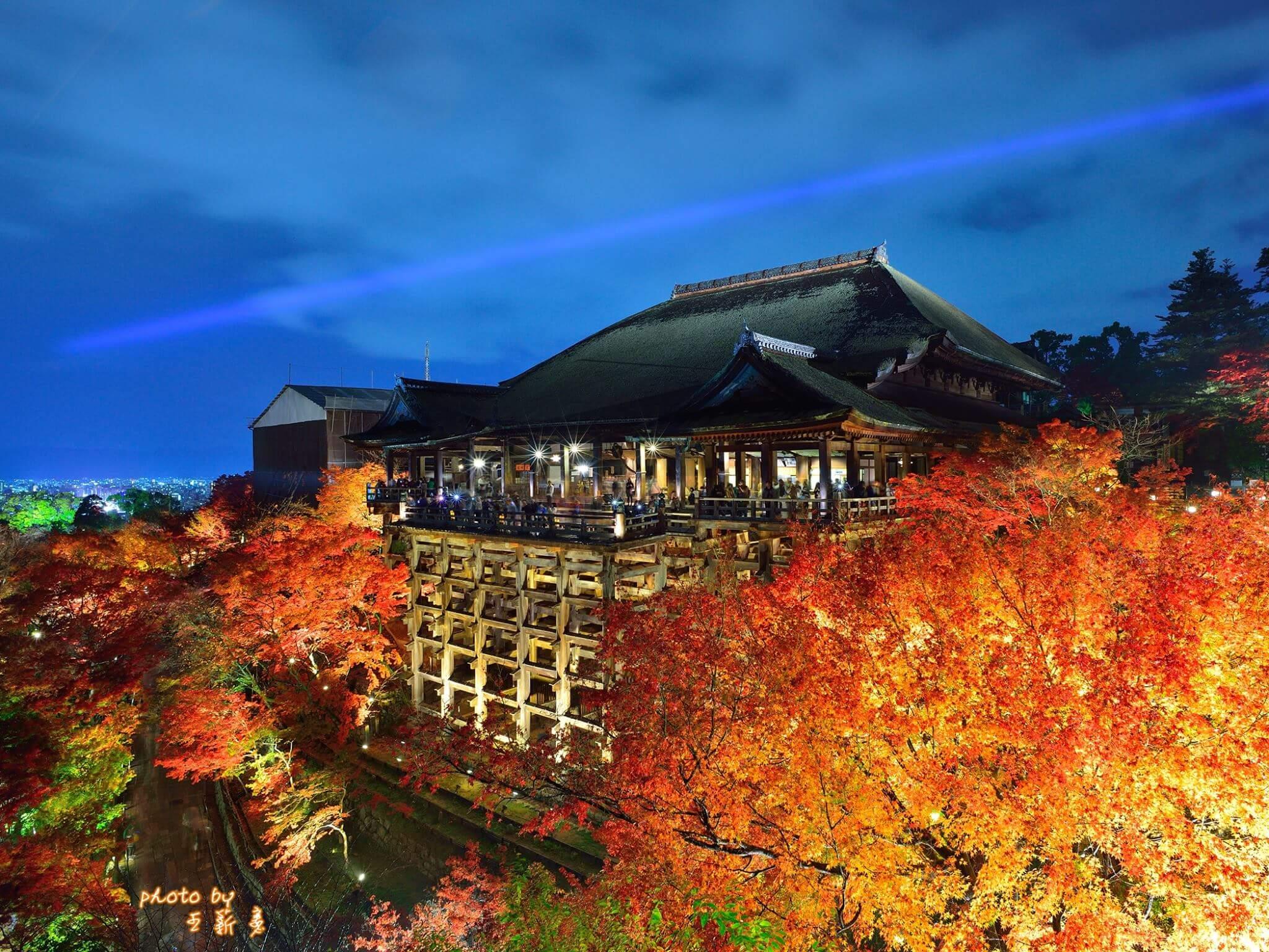 Photo of 紅葉のライトアップと清水の舞台のコラボが美しい!「清水寺・夜の特別拝観」
